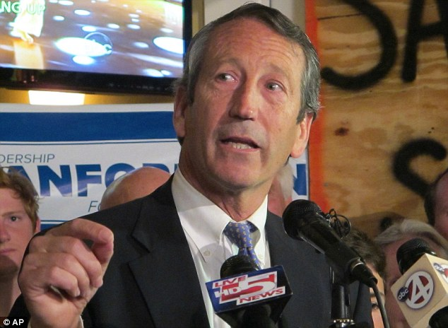 Back on track? Sanford defeated a former county council member to win the GOP nomination on Tuesday