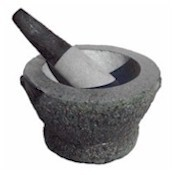 mortar and pestle:
