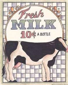fresh milk: