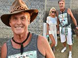 INDIO, CA - APRIL 11:  Hayley Roberts (L) and actor-singer David Hasselhoff attend day 2 of the 2015 Coachella Valley Music & Arts Festival (Weekend 1) at the Empire Polo Club on April 11, 2015 in Indio, California.  (Photo by Kevin Winter/Getty Images)
