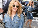 11.APR.2015 - SAO PAULO - BRAZIL\n** EXCLUSIVE ALL ROUND PICTURES **\nAUSTRALIAN POP SINGER KYLIE MINOGUE STOPPED FOR A COFFEE BEFORE HEADING TO THE AIRPORT IN SAO PAULO. THE SINGER DECIDED TO EXIT OUT THROUGH THE BACKDOOR OF THE RESTAURANT\nBYLINE MUST READ : XPOSUREPHOTOS.COM\n*AVAILABLE FOR UK SALE ONLY*\n***UK CLIENTS - PICTURES CONTAINING CHILDREN PLEASE PIXELATE FACE PRIOR TO PUBLICATION ***\n*UK CLIENTS MUST CALL PRIOR TO TV OR ONLINE USAGE PLEASE TELEPHONE 0208 344 2007*