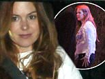 **USA ONLY** *EXCLUSIVE* **SHOT ON 4/9/15** West Hollywood, CA - Isla Fisher steps out with husband Sacha Baron Cohen for the first time since giving birth to her third child.  Isla and Sacha attended a private event held at Lucy's El Adobe Cafe and can be seen showing Pamela Anderson something on her phone, presumably a photo of their new born.\nAKM-GSI       April  10, 2015\n**USA ONLY**\nTo License These Photos, Please Contact :\nSteve Ginsburg\n(310) 505-8447\n(323) 423-9397\nsteve@akmgsi.com\nsales@akmgsi.com\nor\nMaria Buda\n(917) 242-1505\nmbuda@akmgsi.com\nginsburgspalyinc@gmail.com