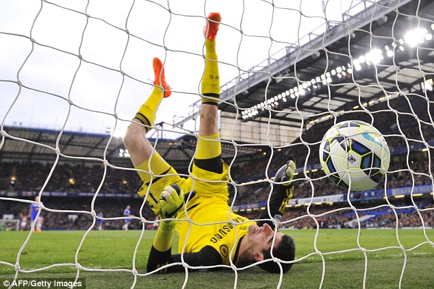 Thibaut Courtois was left scrambling and embarrassed as he was beaten from 66 yards by Adam