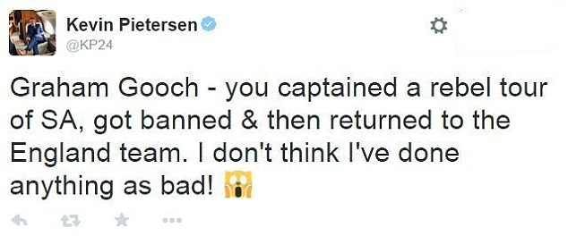 Kevin Pietersen has lashed out at Graham Gooch for commenting on his attempted England comeback