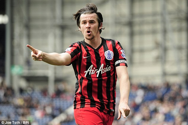 QPR captain Joey Barton celebrates his goal, his team's fourth, late in the game at The Hawthorns