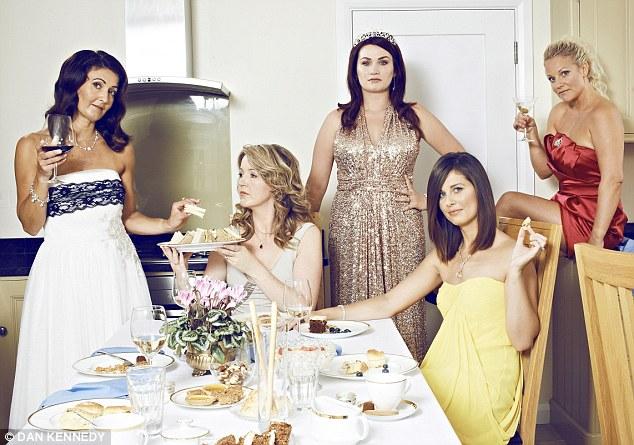 Mum's the word: Tandridge housewives, from left, Sammy Chute, Melissa Mitchelson, Agi Dewberry, Jo Ward and Faye Pearce