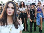 Indio, CA -  Kendall Jenner, Hailey Baldwin and Fergie hold hands as they enjoy the second day of the Coachella Music Festival held in the Empire Polo Club in Indio, CA.  AKM-GSI       April  11, 2015 To License These Photos, Please Contact : Steve Ginsburg (310) 505-8447 (323) 423-9397 steve@akmgsi.com sales@akmgsi.com or Maria Buda (917) 242-1505 mbuda@akmgsi.com ginsburgspalyinc@gmail.com