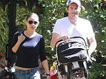 Picture Shows: Mila Kunis, Ashton Kutcher  April 12, 2015    New parents Mila Kunis and Ashton Kutcher take their baby girl Wyatt to visit some friends in Los Angeles, California. Ashton was seen making some silly faces to their baby.    Exclusive All Rounder  UK RIGHTS ONLY    Pictures by : FameFlynet UK © 2015  Tel : +44 (0)20 3551 5049  Email : info@fameflynet.uk.com