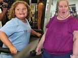 Picture Shows: Alana Thompson  April 12, 2015\n \n ** Min Web / Online Fee £400 For Set **\n \n 'Here Comes Honey Boo Boo' stars Alana Thompson and Mama June Shannon are seen working out at a gym in Hollywood, California. \n \n Mama June seems committed to her fitness goal of losing 100 pounds; enlisting the help of knockout personal trainer Natasha Kufa. Nine year-old Alana was as enthusiastic as always; running on the treadmill and cheering her smiling mother on. \n \n ** Min Web / Online Fee £400 For Set **\n \n Exclusive All Rounder\n UK RIGHTS ONLY\n Pictures by : FameFlynet UK © 2015\n Tel : +44 (0)20 3551 5049\n Email : info@fameflynet.uk.com