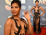 Jussie Smollett, Estelle, Clauda Jordan, Toni Braxton, Anthony Anderson, Big Sean, Grant Hill Tamia, Jermaine Dupree, and other celebrities attend 2015 Evening of Stars in Atlanta GA.  Pictured: Toni Braxton Ref: SPL997518  120415   Picture by: Jerome Pearson / Splash News  Splash News and Pictures Los Angeles: 310-821-2666 New York: 212-619-2666 London: 870-934-2666 photodesk@splashnews.com
