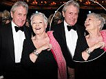 12/04/2015 The Olivier's Awards at The Royal Opera House Convent Garden London Dame Judi dench and David Mills