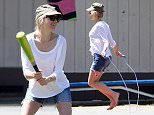 Picture Shows: Naomi Watts  April 12, 2015.. .. Couple Naomi Watts and Liev Schreiber stop by the park with their sons Alexander and Samuel for some family fun in Los Angeles, California. Naomi, who just recently returned from Vancouver, was all smiles while enjoying a day of baseball and jump-roping with her boys. .. .. Non-Exclusive.. UK RIGHTS ONLY.. .. Pictures by : FameFlynet UK © 2015.. Tel : +44 (0)20 3551 5049.. Email : info@fameflynet.uk.com