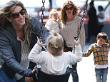 Exclusive April 12, 2014 Gisele Bundchen heads out to the Playground with the family in New York City. Gisele and family looked to be having a smashing time.*****No usage without agreed price. PLEASE Contact: sales@theimagedirect.com or Chris 610.308.7304