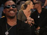 Eddie Murphy and Paige Butcher out at the Lakers game on Sunday, April 12, 2015. The Dallas Mavericks defeated the Los Angeles Lakers by the final score of 120-106 at Staples Center in downtown Los Angeles, CA.\n\nPictured: Eddie Murphy and Paige Butcher\nRef: SPL995399  120415  \nPicture by: London Ent / Splash News\n\nSplash News and Pictures\nLos Angeles: 310-821-2666\nNew York: 212-619-2666\nLondon: 870-934-2666\nphotodesk@splashnews.com\n