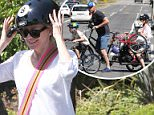 Picture Shows: Naomi Watts  April 12, 2015\n \n Couple Naomi Watts and Liev Schreiber stop by the park with their sons Alexander and Samuel for some family fun in Los Angeles, California. Naomi, who just recently returned from Vancouver, was all smiles while enjoying a day of baseball and jump-roping with her boys. \n \n Non Exclusive\n UK RIGHTS ONLY\n \n Pictures by : FameFlynet UK © 2015\n Tel : +44 (0)20 3551 5049\n Email : info@fameflynet.uk.com