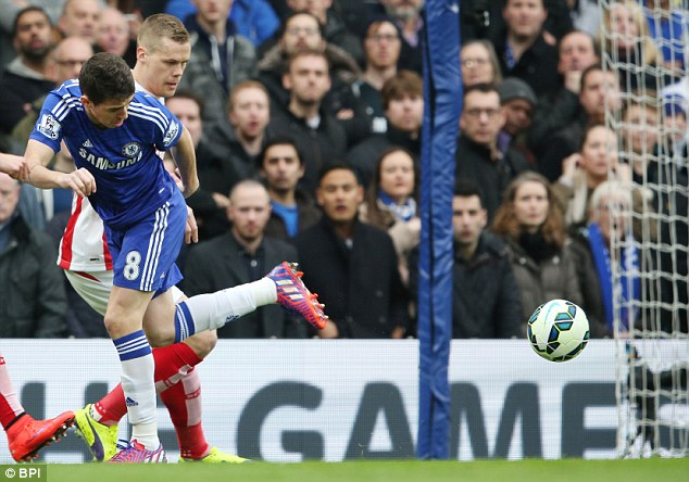 Oscar tries a flick that doesn't come off during a disappointing display against Stoke on Saturday