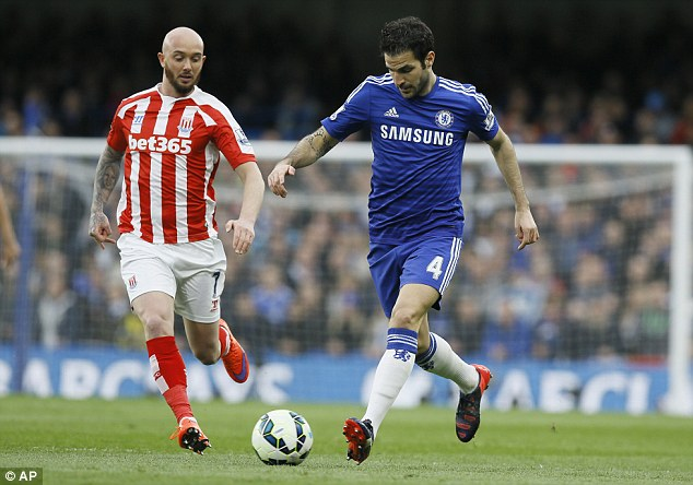 Cesc Fabregas runs with the ball, but the assists have dried up for the Spanish international in recent weeks