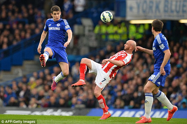 Oscar was withdrawn at half time but his manager insisted he was not struggling and will bounce back