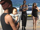 April 13th, 2015: \nNicole Trunfio, Husband & baby lunch at North Bondi Fish\nMandatory Credit: INFphoto.com Ref: infausy-12