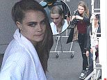 135522, EXCLUSIVE: Cara Delevingne, Hayley Williams, and other models and musicians are seen on the set of Taylor Swift's new music video. Los Angeles, California - Sunday April 12, 2015. Photograph: Miguel Aguilar ©PacificCoastNews.com FEE MUST BE AGREED PRIOR TO USAGE E-TABLET/IPAD & MOBILE PHONE APP PUBLISHING REQUIRES ADDITIONAL FEES UK OFFICE:+44 131 557 7760/7761 US OFFICE:1 310 261 9676