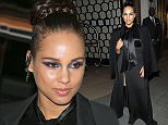 Mandatory Credit: Photo by SIPA/REX Shutterstock (4654940b)  Alicia Keys  Alicia Keys leaving her hotel in Paris, France - 13 Apr 2015  Alicia Keys leaves her hotel in Paris to head to a Private Givenchy Event