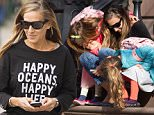 Mandatory Credit: Photo by Startraks Photo/REX Shutterstock (4648018j)\n Sarah Jessica Parker with Daughters (Tabitha Hodge, Marion Loretta)\n Sarah Jessica Parker out and about, New York, America - 13 Apr 2015\n Sarah Jessica Parker Walking her Twins to School\n