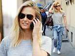 Mandatory Credit: Photo by Olycom SPA/REX Shutterstock (4648011b)  Bar Refaeli  Bar Refaeli out and about, Milan, Italy - 13 Apr 2015  Supermodel Bar Refaeli enjpyed some shopping with a friend before having lunch at Paper Moon