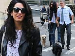 April 12, 2015: George Clooney meets Amal and her father (not pictured) for lunch and then brings her to the set  of 'Money Monster' in New York City today. \nMandator Credit: INFphoto.com Ref.: infusny-198