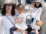 135555, EXCLUSIVE: Jenna Dewan takes her daughter Everly Tatum to a playground in West Hollywood. The actress was seen sporting a white sundress, strappy sandals, floppy brown hat, and her staple mirrored sunglasses while toting Everly and a cartoon crab bag. Los Angeles, California - Monday April 13, 2015. Photograph: © Survivor, PacificCoastNews. Los Angeles Office: +1 310.822.0419 sales@pacificcoastnews.com FEE MUST BE AGREED PRIOR TO USAGE