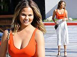 Picture Shows: Chrissy Teigen  April 13, 2015    Model Chrissy Teigen doing a photo shoot in Los Angeles, California. Chrissy posted a photo on Instagram on Sunday showing off her stretch marks and proving that models are normal people too.     EXCLUSIVE ALL ROUNDER  UK RIGHTS ONLY    Pictures by : FameFlynet UK © 2015  Tel : +44 (0)20 3551 5049  Email : info@fameflynet.uk.com