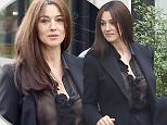 ***NO WEB USAGE*** New Bond Girl Monica Bellucci and her daughter Deva leave La SociÈtÈ restaurant with Melita Toscan du Plantier in Paris. Bellucci showed off her famous curves in a see through blouse.\n13 April 2015.\nPlease byline: Vantagenews.co.uk