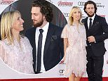 Mandatory Credit: Photo by Picture Perfect/REX Shutterstock (4652213aq)  Aaron Taylor-Johnson and wife Sam Taylor-Johnson  'The Avengers: Age of Ultron' film premiere, Los Angeles, America - 13 Apr 2015