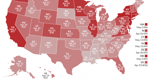 Map � When is Tax Freedom Day in Your State?