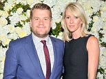 BEVERLY HILLS, CA - APRIL 14:  Actor James Corden (L) and wife Julia Carey attend David And Victoria Beckham, Along With Barneys New York, Host A Dinner To Celebrate The Victoria Beckham Collection at Fred's at Barneys on April 14, 2015 in Beverly Hills, California.  (Photo by Donato Sardella/Getty Images for Barneys New York)