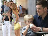 EXCLUSIVE: Michael Buble and family spotted in Miami, FL.  Pictured: Michael Buble shopping in Bal Harbour Ref: SPL965869  140415   EXCLUSIVE Picture by: Photopress Miami / Splash News  Splash News and Pictures Los Angeles: 310-821-2666 New York: 212-619-2666 London: 870-934-2666 photodesk@splashnews.com