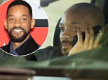 135628, EXCLUSIVE: First look at Will Smith with a newly shaven head for his role as 'Deadshot' in the upcoming DC comics movie 'Suicide Squad'. Will has been trying to hid his head while out in Toronto. Toronto, Canada - Tuesday April 14, 2015. CANADA OUT Photograph: © O'Neill/Todd G, PacificCoastNews. Los Angeles Office: +1 310.822.0419 sales@pacificcoastnews.com FEE MUST BE AGREED PRIOR TO USAGE