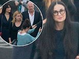 The Willis and Moore families head to 'Dancing with the Stars' to support Rumer Willis.  Pictured: Scout Willis, Demi Moore, Emma Heming and Bruce Willis Ref: SPL997838  130415   Picture by: Camo / Splash News  Splash News and Pictures Los Angeles: 310-821-2666 New York: 212-619-2666 London: 870-934-2666 photodesk@splashnews.com
