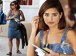 Mandatory Credit: Photo by Beretta/Sims/REX Shutterstock (4666509e)  Jenna Coleman  Jenna Coleman out and about in Primrose Hill, London, Britain - 15 Apr 2015