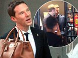 """.. EXCLUSIVE.. 12 Apr 2015.. Benedict Cumberbatch went to a massage shop named """" Oriental Taipan"""" in Shanghai, China..."""