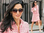 EXCLUSIVE: Amal Clooney looks radiant as she goes for a coffee run with a male friend around the Columbia University in New York City on April 15, 2015.\n\nPictured: Amal Clooney\nRef: SPL999653  150415   EXCLUSIVE\nPicture by: Felipe Ramales / Splash News\n\nSplash News and Pictures\nLos Angeles: 310-821-2666\nNew York: 212-619-2666\nLondon: 870-934-2666\nphotodesk@splashnews.com\n