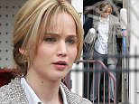 Picture Shows: Jennifer Lawrence  April 14, 2015    Actress Jennifer Lawrence continues to film scenes for her new movie 'Joy' filming in Haverhill, Massachusetts. In the scene Jennifer is seen leaving a hardware store with her miracle mops in hand, after trying to sell them door to door.    EXCLUSIVE ALL ROUNDER  UK RIGHTS ONLY  Pictures by : FameFlynet UK © 2015  Tel : +44 (0)20 3551 5049  Email : info@fameflynet.uk.com