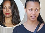 Picture Shows: Zoe Saldana  April 14, 2015\n \n New parents Zoe Saldana and Marco Perego meet some friends for lunch at the Four Seasons Hotel in Beverly Hills, California. After lunch Zoe had a very animated conversation with her friend and made several funny faces. \n \n Exclusive All Rounder\n UK RIGHTS ONLY\n \n Pictures by : FameFlynet UK © 2015\n Tel : +44 (0)20 3551 5049\n Email : info@fameflynet.uk.com