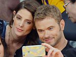 15.APRIL.2015 - LOS ANGELES - USA ***STRICTLY NOT AVAILABLE FOR DAILY MAIL ONLINE *** KELLAN LUTZ AND FEMALE FRIEND GET A VISIT FROM ASHLEY GREENE AT STAPLES CENTER TO WATCH THE LOS ANGELES LAKERS VS. SACRAMENTO KINGS! BYLINE MUST READ : XPOSUREPHOTOS.COM *AVAILABLE FOR UK SALE ONLY* ***UK CLIENTS - PICTURES CONTAINING CHILDREN PLEASE PIXELATE FACE PRIOR TO PUBLICATION *** *UK CLIENTS MUST CALL PRIOR TO TV OR ONLINE USAGE PLEASE TELEPHONE 0208 344 2007*