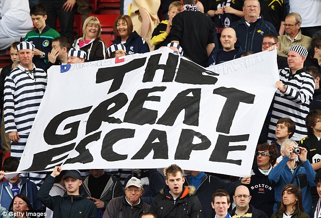 Not this time: Bolton Wanderers fans held out hope before kick-off