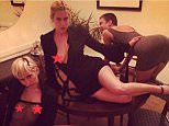 Miley Cyrus with Willis girls