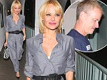 Pammie Anderson leaves Crossroads Restaurant with a new guy in tow,,,, They then go to a cheap Hotel on Sunset Blvd called the Dunes Hotel where they appear to be spending the night together in the same room,,,,,April 17th 2015 Maciel/X17Online.com\nOK FOR WEB SITE USAGE\nAny queries call X17 UK Office /0034 966 713 949/926 \nAlasdair 0034 630576519 \nGary 0034 686421720\nLynne 0034 611100011