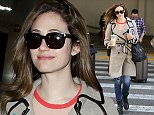 LOS ANGELES, CA - APRIL 16: Emmy Rossum seen at LAX on April 16, 2015 in Los Angeles, California.  (Photo by GVK/Bauer-Griffin/GC Images)