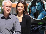 LOS ANGELES, CA - APRIL 16: Jessica Alba and James Cameron are seen on April 16, 2015 in Los Angeles, California.  (Photo by Bauer-Griffin/GC Images)
