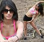 TOWIES JASMINE WALIA SEEN WORKING OUT IN EPPING FOREST ESSEX . FRIDAY 10TH APRIL 2015 - MAGICMOMENTSUK - 07753 30 30 77