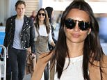 """Emily Ratajkowski spotted with an unidentified male friend as she arrives in Los Angeles wearing a cute pair of overalls.  The sexy """"Blurred Lines"""" and """"Gone Girl"""" actress was seen at LAX with her male companion. \n\nPictured: Emily Ratajkowski\nRef: SPL1002505  170415  \nPicture by: Splash News\n\nSplash News and Pictures\nLos Angeles: 310-821-2666\nNew York: 212-619-2666\nLondon: 870-934-2666\nphotodesk@splashnews.com\n"""